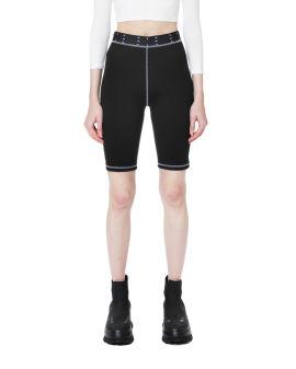 Logo print biker shorts