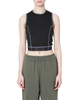 Contrasting cropped tank top
