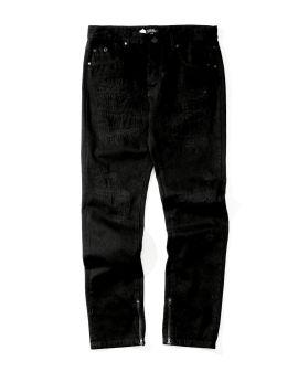 Pigeon print zip-cuff jeans