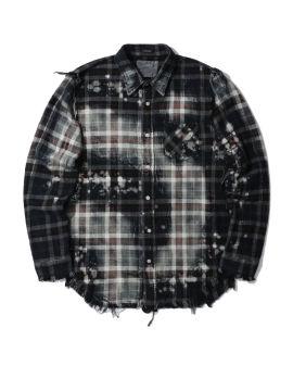 Bleached shredded seam shirt