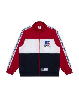 Logo tape zip sweatshirt