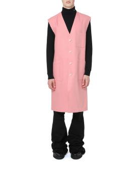Sleeveless labo coat