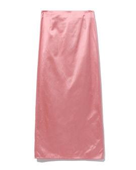 Pilled satin skirt
