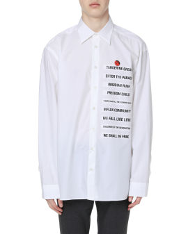 Patch boxy fit shirt