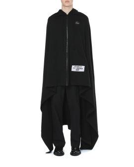 Uni fleece hooded cape