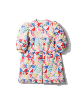 Printed puffed coat