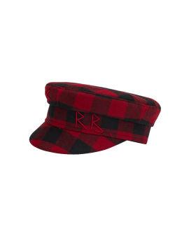 Check baker boy cap
