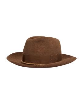 Chain felt fedora hat