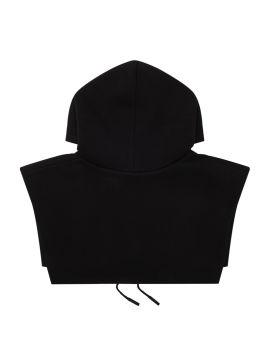 Monogram-embellished hood