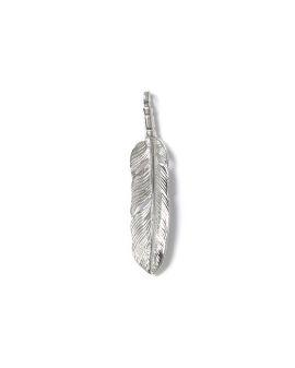 Logo medium feather pendant (facing left)