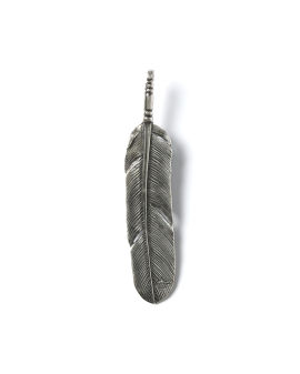 Extra large feather pendant