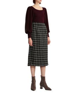 Puffed sleeve knit top