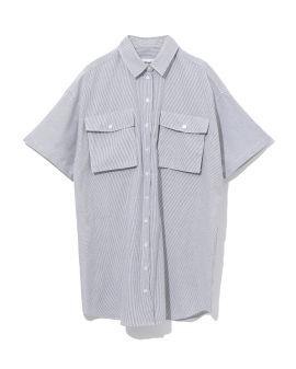 Oversize patch pocket shirt