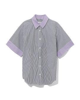 Contrast stripe shirt