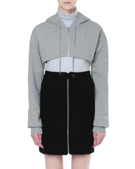Cropped zip hoodie