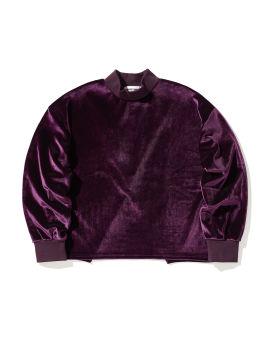 Back slit velour top