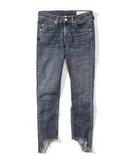 High rise ankle medium wash skinny jeans