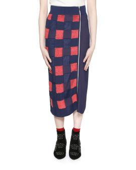 Ridley gingham check skirt