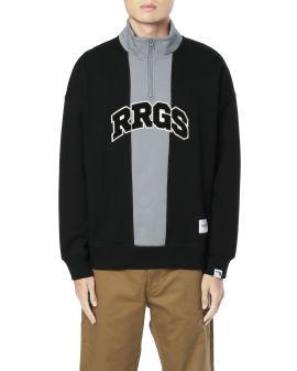 Colourblock quarter-zip sweatshirt