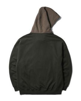 Colour block logo hoodie