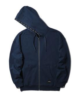 Logo patch zip hoodie