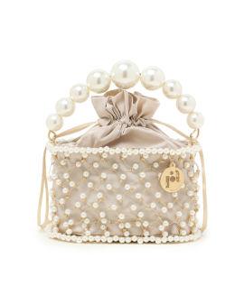 Holli Siviglia faux pearl embellished top handle bag