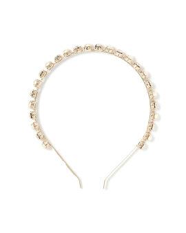 Polka crystal and faux pearl hairband
