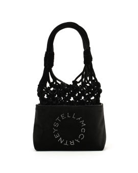 Logo knotted tote bag