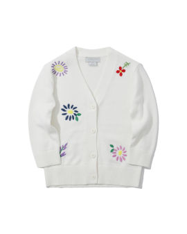 Embroidered flowers cardigan