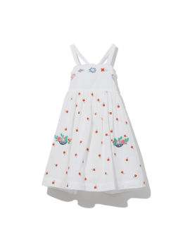 Embroidered flowers dress