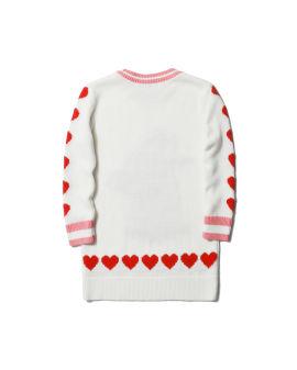 Intarsia knit sweater dress