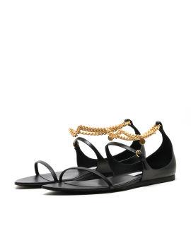 Bella embellished faux leather sandals