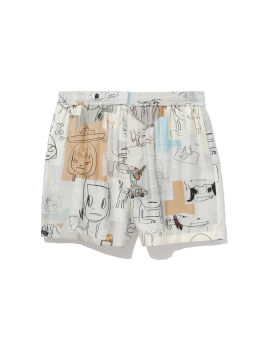 X Yoshitomo Nara silk shorts
