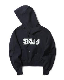 Scuba logo print hoodie