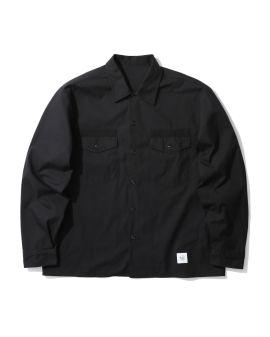 Sleeve panelled big shirt