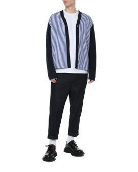 Stripe panel cardigan
