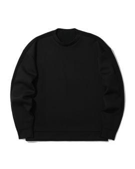 Fabric mix crewneck sweatshirt