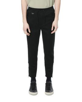 Drawstring cropped sweatpants