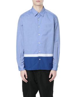 Hem panelled shirt