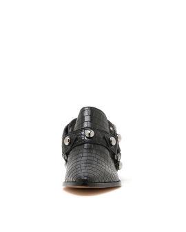 Leather sabot heels