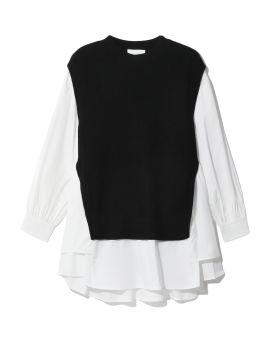 Hybrid sweater blouse