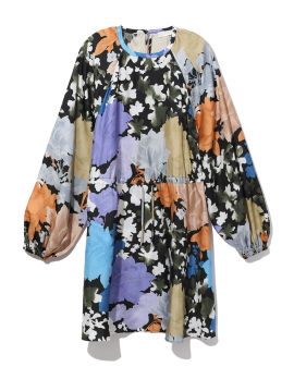 Coco flora silk dress