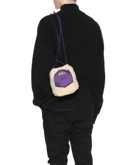 Furry drawstring bag