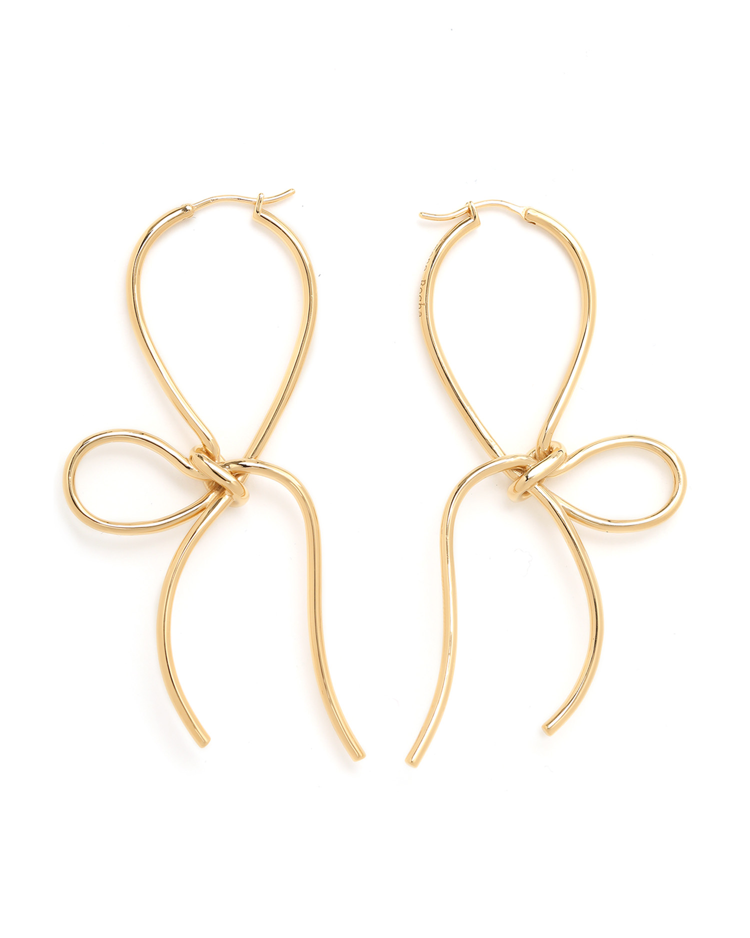 Simone Rocha Bow gold-plated earrings kbxVykn3