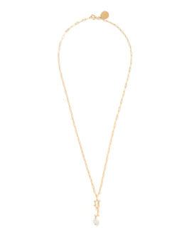 F Letter pearl-embellished necklace