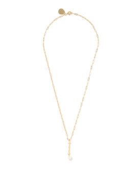I Letter pearl-embellished necklace