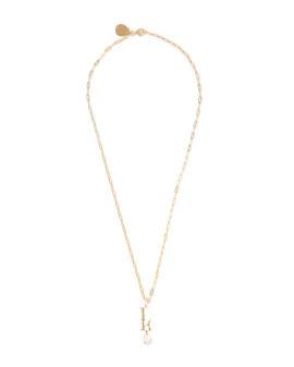 L Letter pearl-embellished necklace