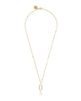 O Letter pearl-embellished necklace