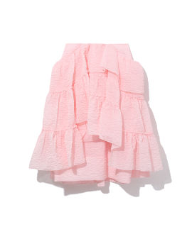 Textured layered skirt