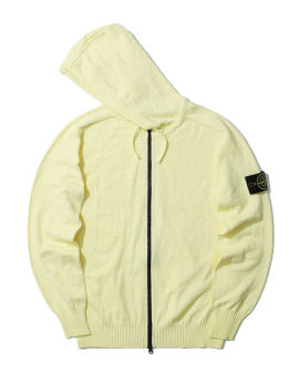 Hooded zip cardigan